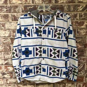 Modern Amusement Hooded Men's Aztec Print Shirt
